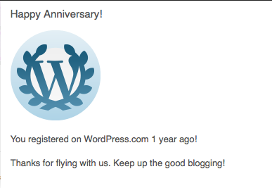 Happy Anniversary to ME!